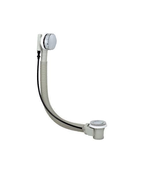 Автоматический слив-перелив для ванны REMER (пластик комбинированный с металлом) RR 96P