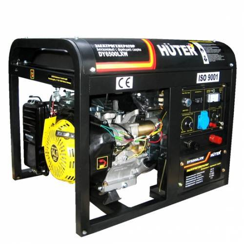 Бензогенератор Huter DY6500LXW