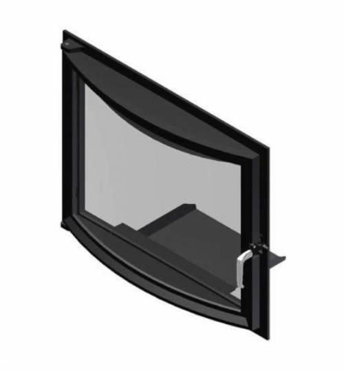 """Дверца со стеклом ROBAX 17"""" Панорама 351х311 мм"""