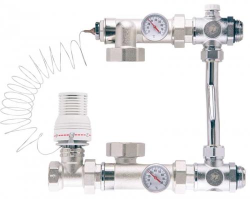 Насосно-смесительный узел с термостатической стабилизацией для коллекторных систем