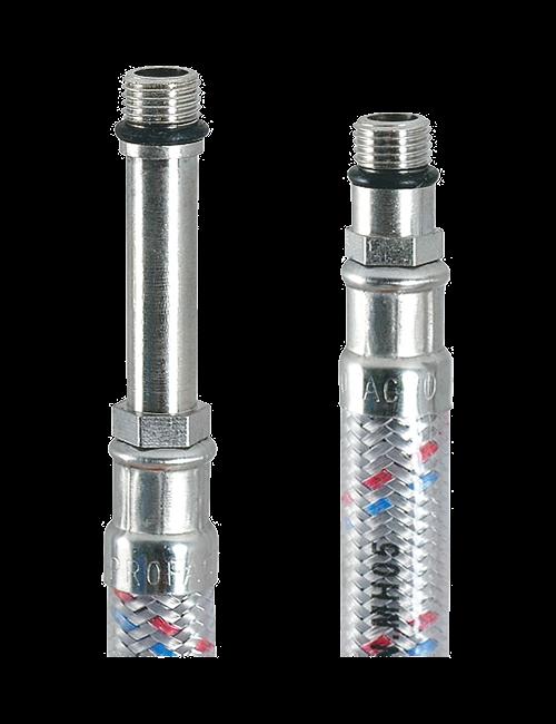 """Гибкая подводка к смесителю ProFactor LUX 1/2""""хM10 ВР/НР 400 мм с полимер. покрыт. WFH 525.40"""
