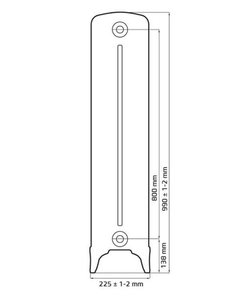Схема чугунного радиатора RETROstyle Bristol M 782