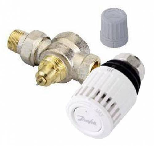 Комплект клапанов терморегуляторов DANFOSS RTD-N/RTD36 прямой DN15
