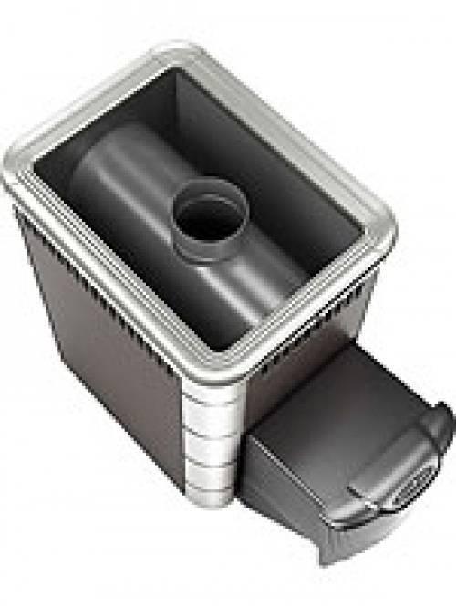 Печь для бани Термофор Шилка 10 (цвет: антрацит, вставки из нержавеющей стали)