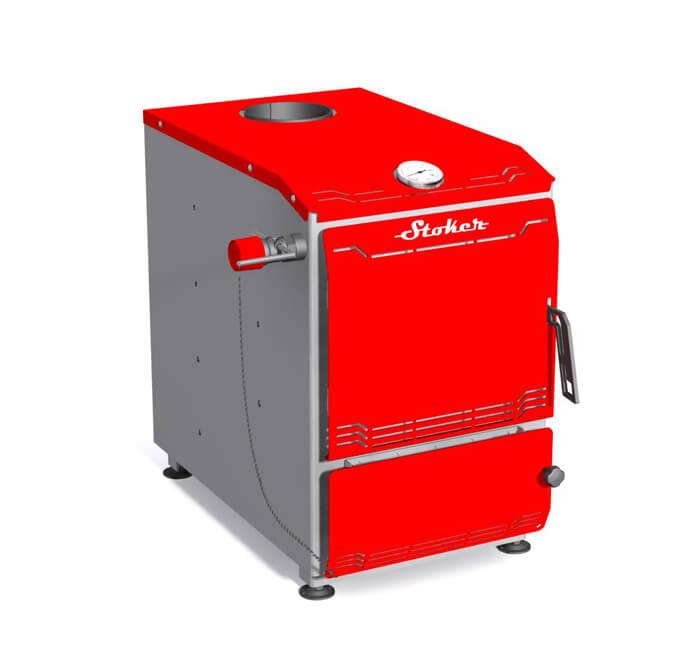 Stoker Aqua 14-Э. Твердотопливный водогрейный котел, 14 кВт.