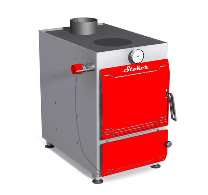 Stoker Aqua 16-П/Э. Твердотопливный водогрейный котел с конфоркой, 16 кВт.