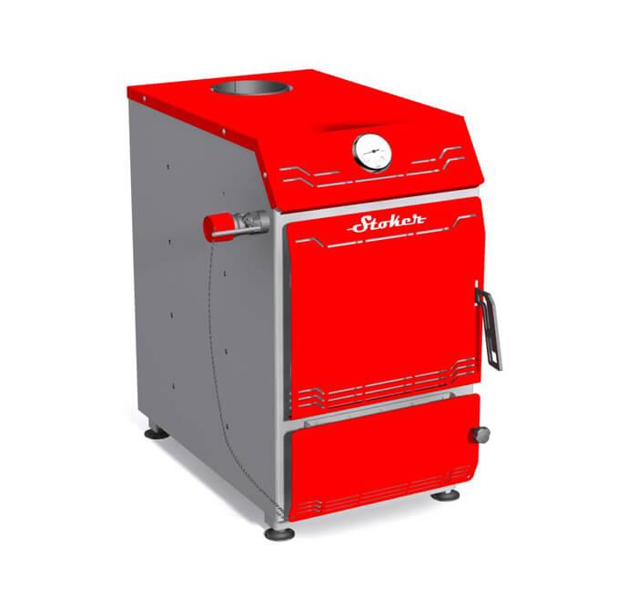Stoker Aqua 18-Э. Твердотопливный водогрейный котел, 18 кВт.