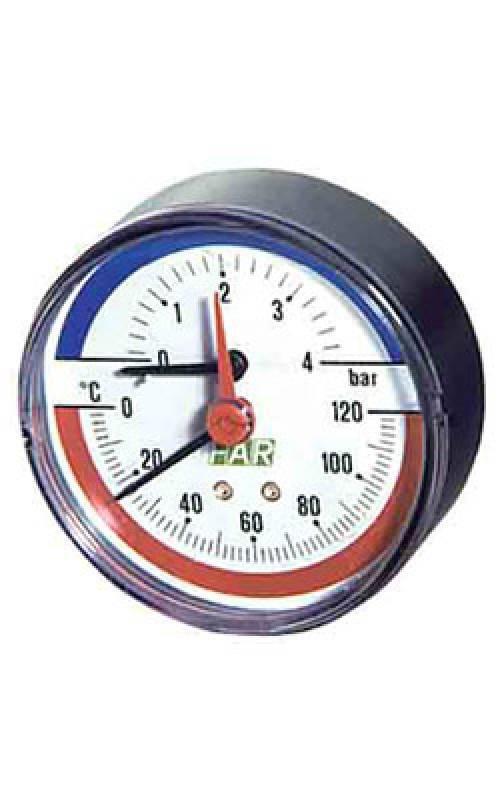 "Термоманометр FAR 1/2"" 4 Бар (FA 2550)"