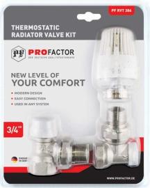 Комплекты термостатического оборудования для прямого и углового подключения радиатора
