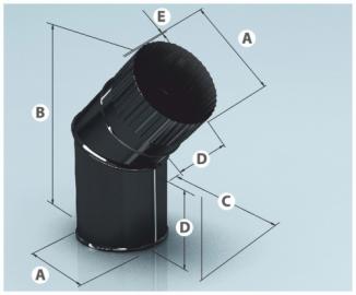 Отвод эмалир. 135, 0,8 d-150