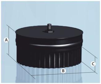Заглушка с конденсатоотв. П эмалир.0,8мм d 150мм