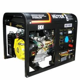 Бензогенератор Huter DY6500LXW с функцией сварки и колесами (5000 Вт)