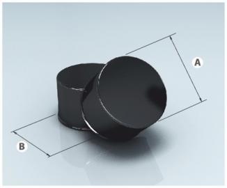 Заглушка глухая М эмалир. 0,8мм d 115мм