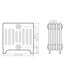 Схема чугунного радиатора RETROstyle Bolton