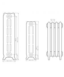 Схема чугунного радиатора RETROstyle Bristol