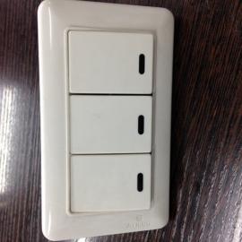 Выключатель, 3 клавиши, 920613, с подсветкой