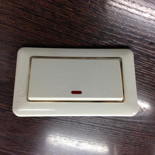Выключатель, 1 клавиша, с подсветкой