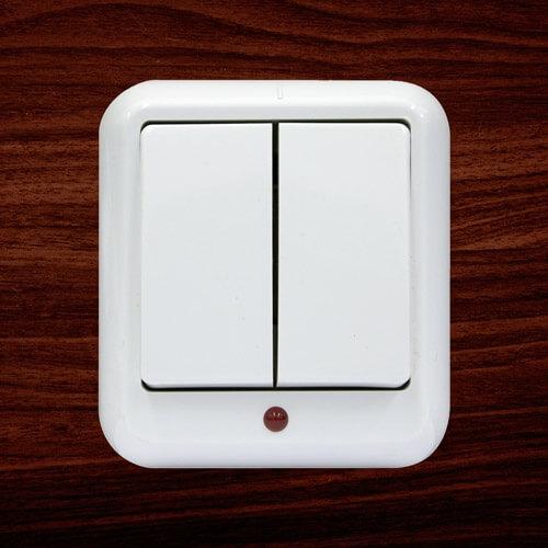 """Выключатель с подсветкой """"Прима"""" А56-007, 2 клавиши"""